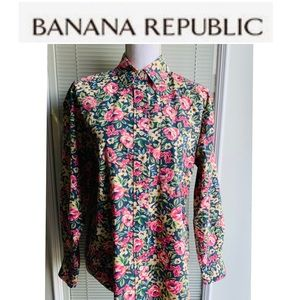 Banana Republic Button down floral top